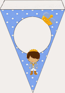 Baby Prince: Free Printable Invitations, Banner and Cone.