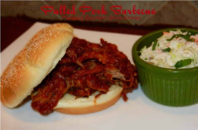 pulled pork barbecue on a bun