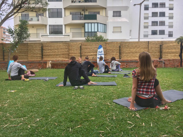 Surf and Yoga Retreat Yoga Class