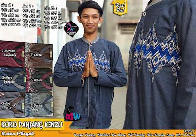 Baju Koko Panjang Katun Minyak Full Kancing