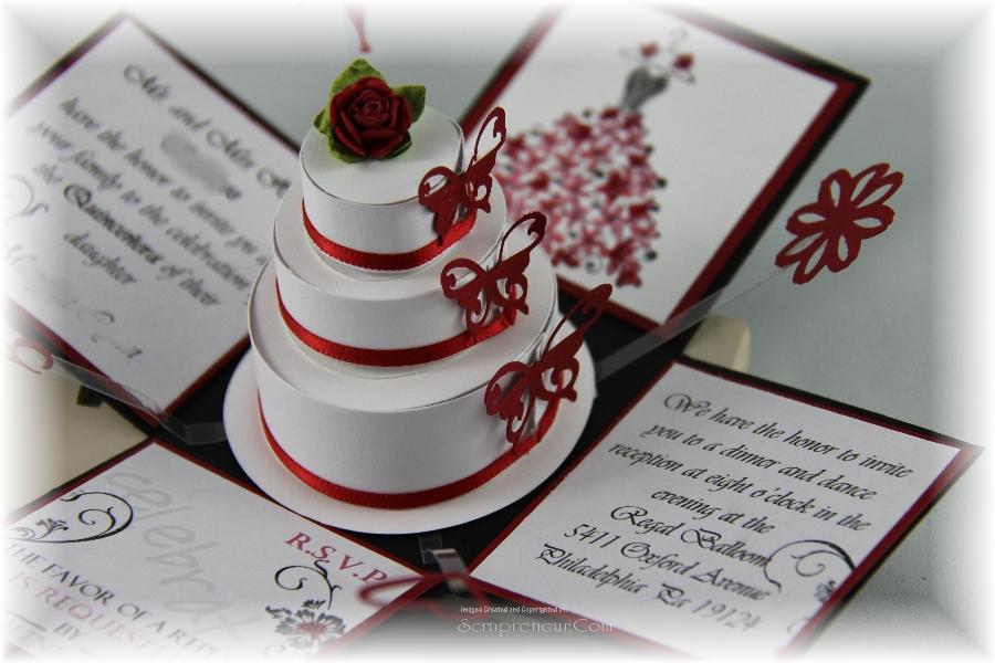 Jinky's Crafts & Designs: Quinceañera Exploding Invitation Box