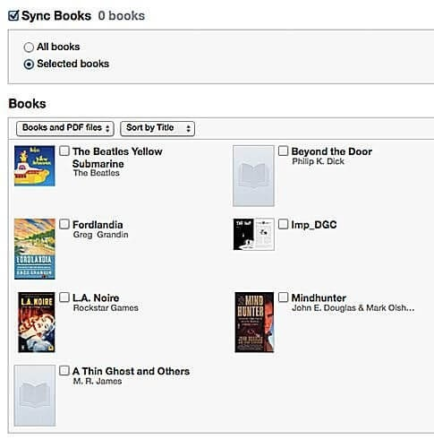 Sync Buku ke iPhone