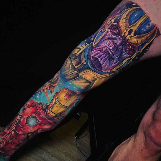 Top 10 Tatuagens da Marvel e Vingadores
