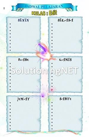 Template Jadwal Pelajaran Piket File Ms Word Solution Ngnet