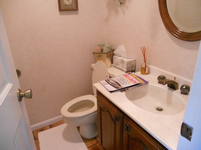My Powder Room Remodel Just One Donna