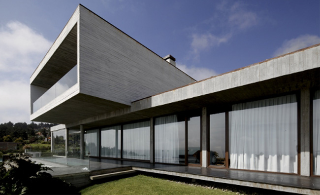 Casas minimalistas y modernas casa minimalista en hormigon armado en cachagua - Casas de hormigon ...
