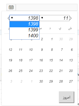 Oracle APEX Capabilities - (OAC): Options on Persian Datepicker