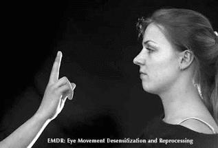 تقنيات علاج الصدمات  باستعمال الحركة الثنائيّة للعين EMDR