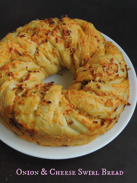 Onion & Cheese Swirl Bread
