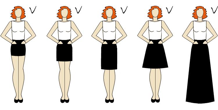 talia podkreślona odpowiednim fasonem spódnicy
