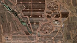 """صورة فريدة لمحطة """"الباندا العملاقة"""" الشمسية في الصين"""