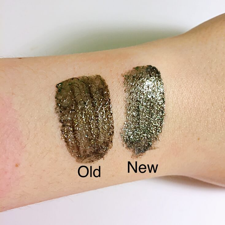 wet n wild megalast Liquid Catsuit Liquid Eyeshadow Black is the New Black vs Mysterious swatches