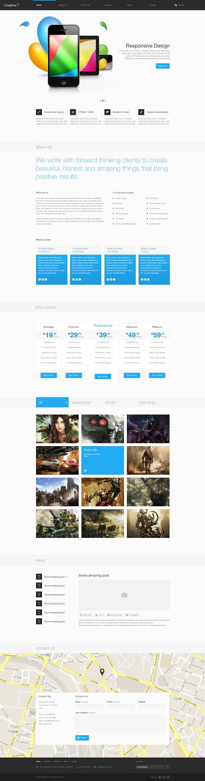 Preview Creative - Themeforest Multi Purpose PSD Thems