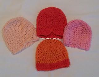 free crochet pattern, free crochet cap pattern, free crochet turban cap pattern, free crochet preemie baby caps, Oswal Cashmilon yarn, Vardhaman Millennium yarn,