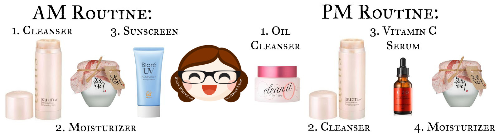 Simple anti-aging K-Beauty beauty product routine