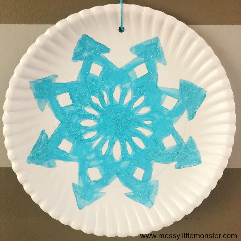Paper Plate Snowflakes Craft