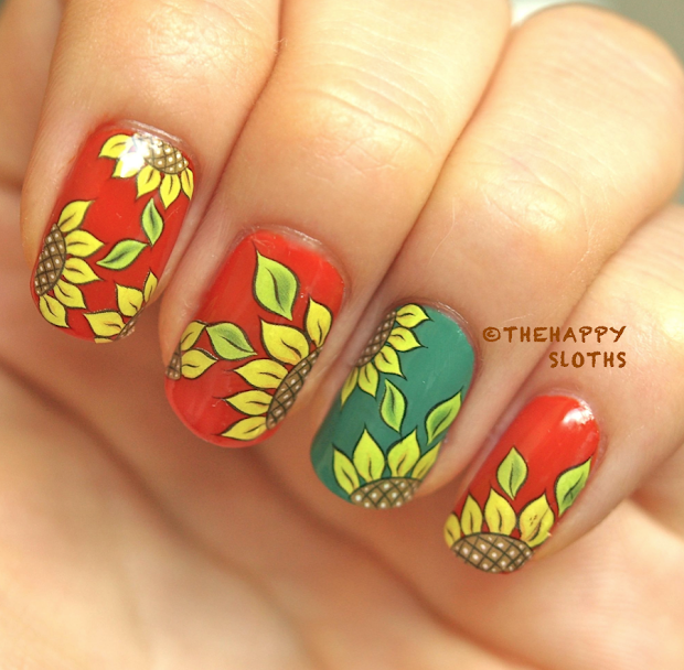 Sunflower Nail Design Joy Studio