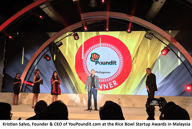 YouPoundit Wins The Retail Startup Of The Year At Rice Bowl Awards!