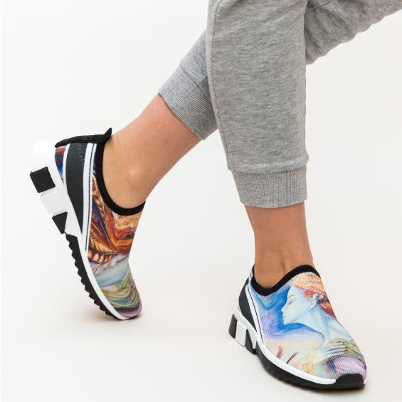 Adidasi femei moderni cu imprimeul multicolor de vara ieftini