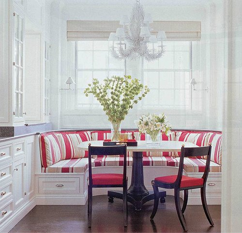 Innovative dining breakfast nooks violet fashion art - What is a breakfast nook ...