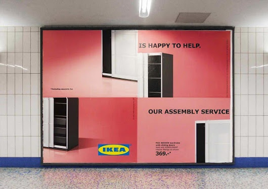 Designtaxi - Playful IKEA Billboards Poke Fun At Its Self-Assembly Furniture