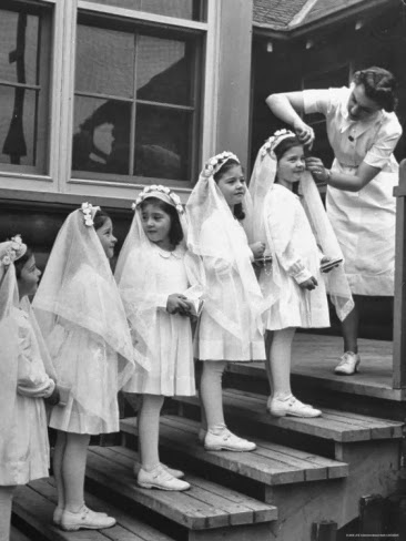 Loving Mantillas First Holy Communion Veils Then