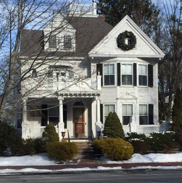 The fine living muse new england style homes in for New victorian style homes