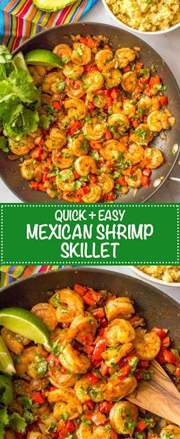 Easy Mexican Shrimp Skillet
