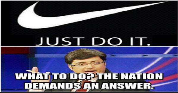 arnab goswami funny jokes