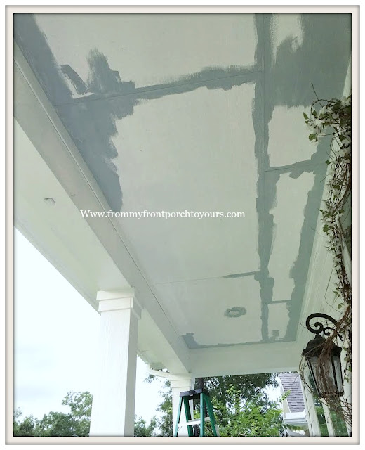 Porch Ceiling Makeover-Paint-Blue-Haint Blue- From My Front Porch To Yours