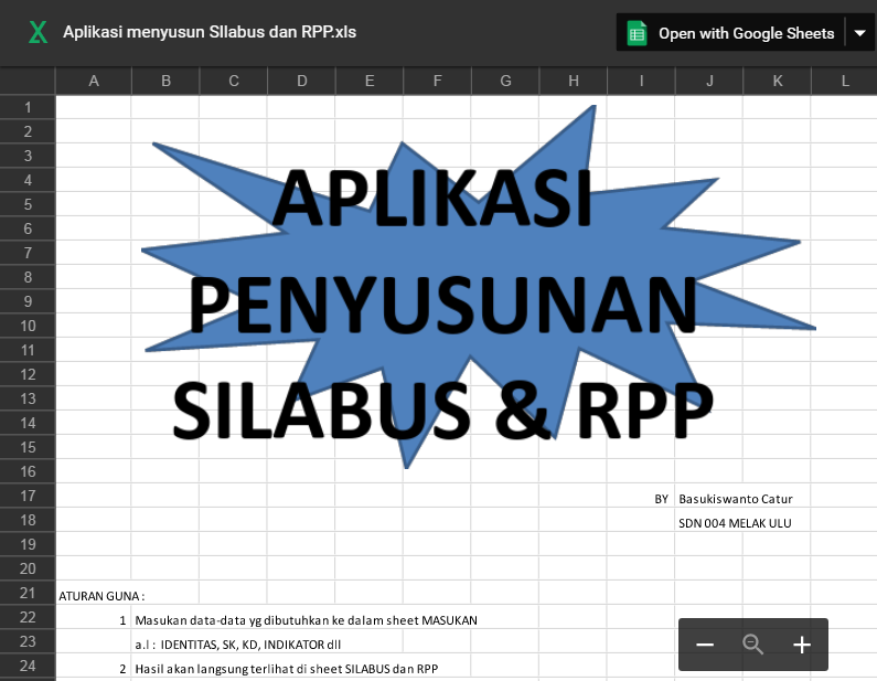Aplikasi Pelatihan Pembuatan Rpp Dan Silabus Sd Otomatis