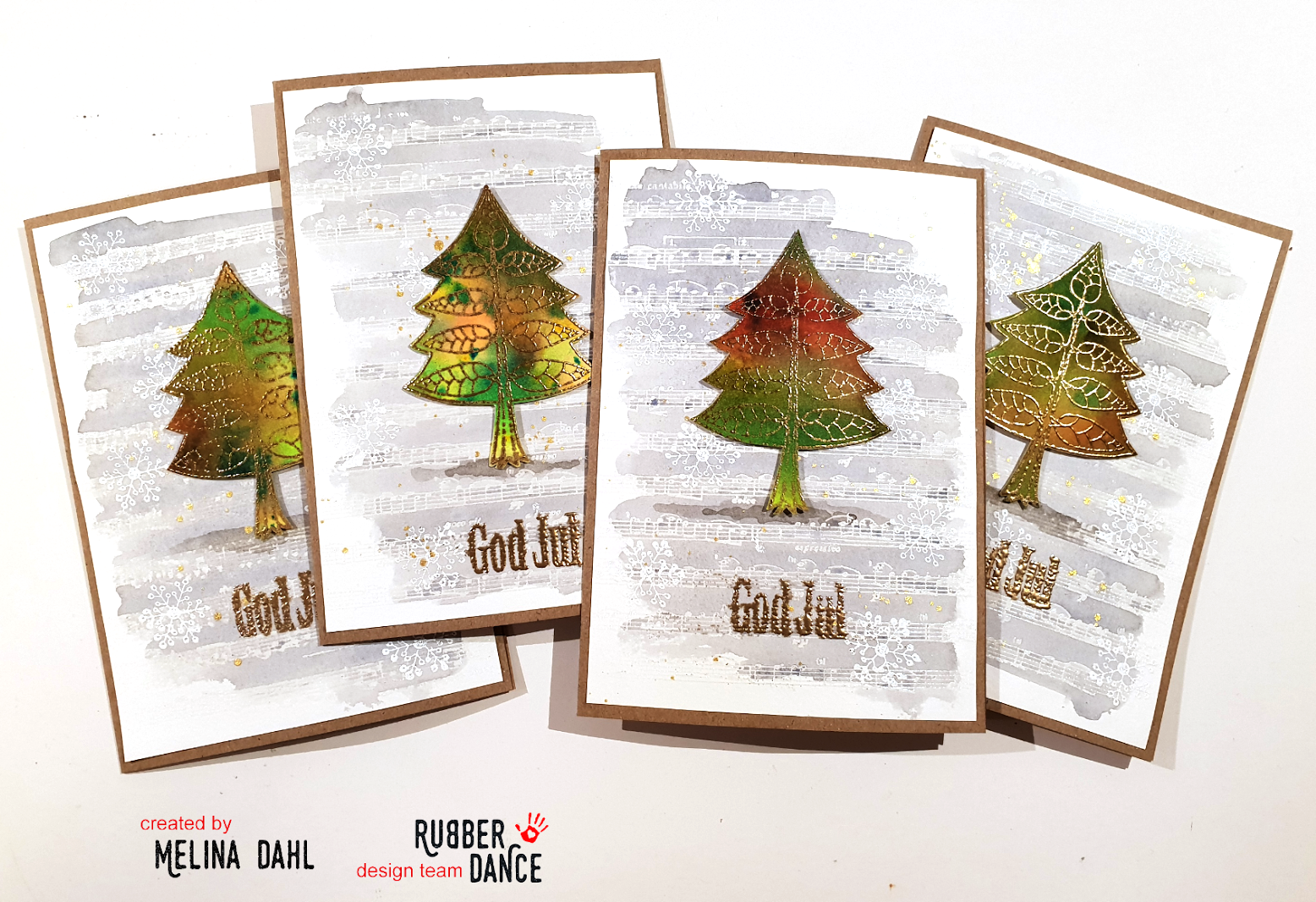 Rubber Dance Blog *: Christmas cards with 3 x embossing, video ...