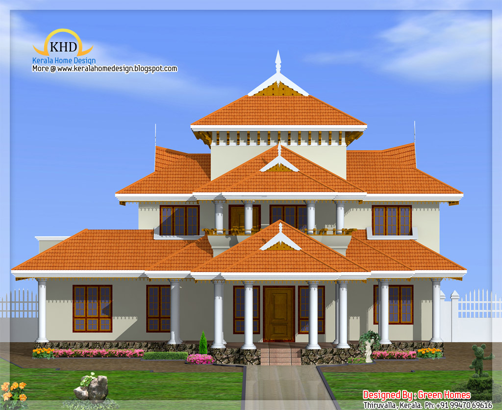Kerala style house architecture 4000 sq ft kerala for 4000 sq ft building