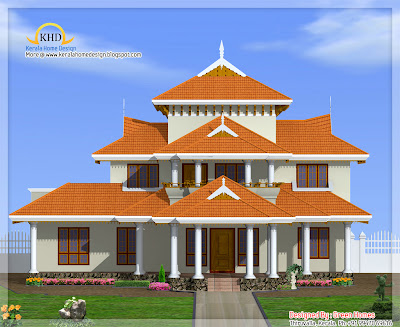 Kerala Style House Architecture - 372 Square meter (4000 SqFt.)- November 201