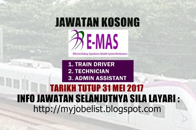 Jawatan Kosong di ERL Maintenance Support Sdn Bhd (E-MAS) Mei 2017