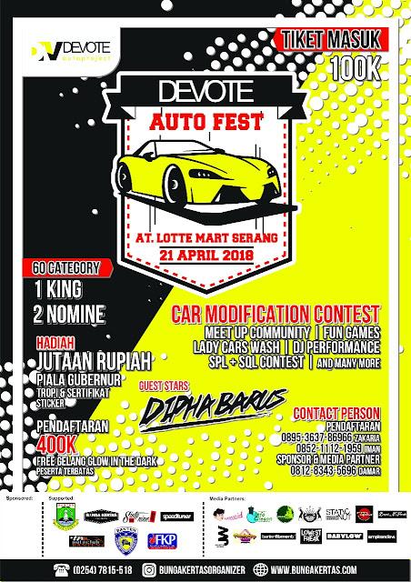 Suka Memodifikasi Mobil dan Sepeda Motor? Yuk Ikutan Devote Auto Fest!