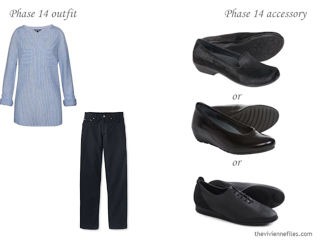 3 shoe options to wear with jeans and a tunic