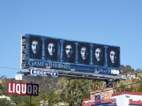 Game of Thrones Hall of Faces season 6 billboard