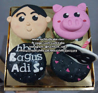 Cupcake Babi dan Sapi Lucu Surabaya - Sidoarjo