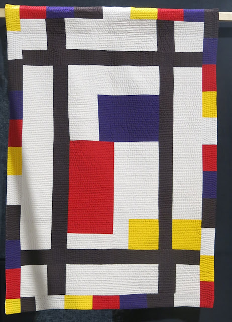 My Mondrian Moment by Louise Donovan - Birmingham Festival of Quilts 2018