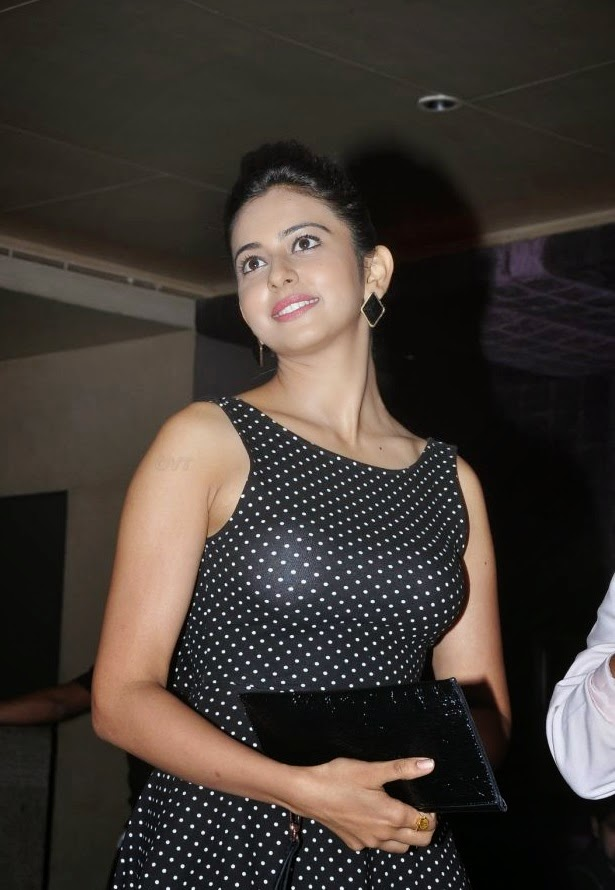 Tollywood Actress Rakul Preeth Singh Photos in Black Dress