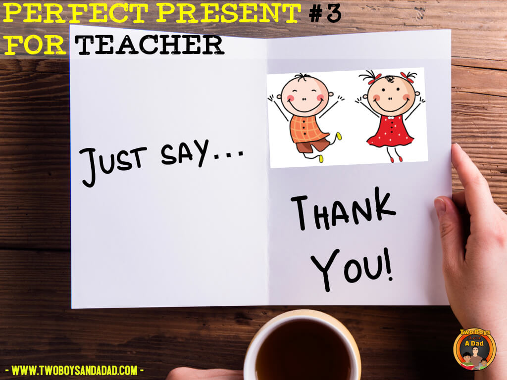 teachers want a thank you