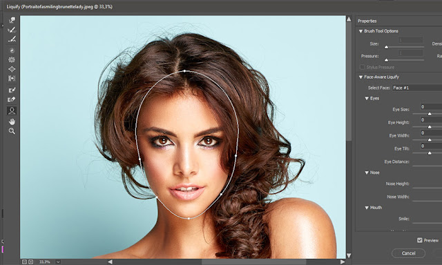 Face-Aware Liquify in Adobe Photoshop CC