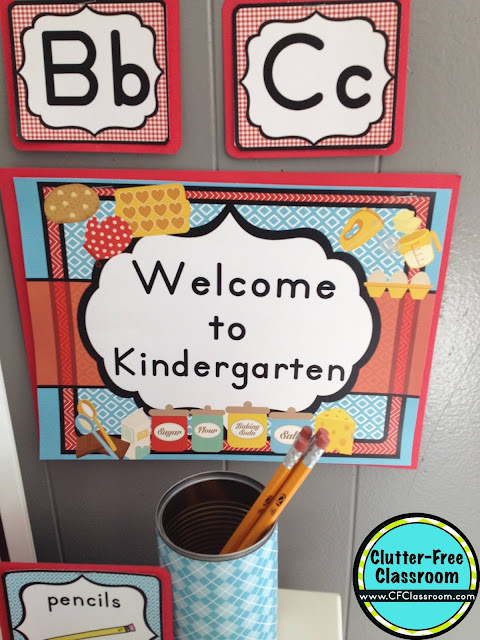 Are you planning a cooking themed classroom or thematic unit? This blog post provides great decoration tips and ideas for the best cooking theme yet! It has photos, ideas, supplies & printable classroom decor to will make set up easy and affordable. You can create a cooking theme on a budget!