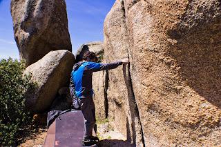 Boulder 20 de Abril Torrelodones Bloque Escalada