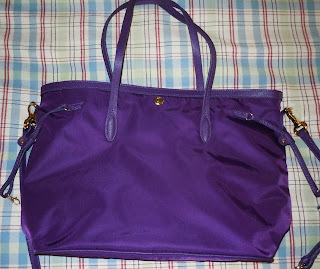 This Is The Jpk Paris East West Nylon Per My Absolute Favorite Thing About Bag Color It A Deep Jewel Tone Purple And Gold Hardware