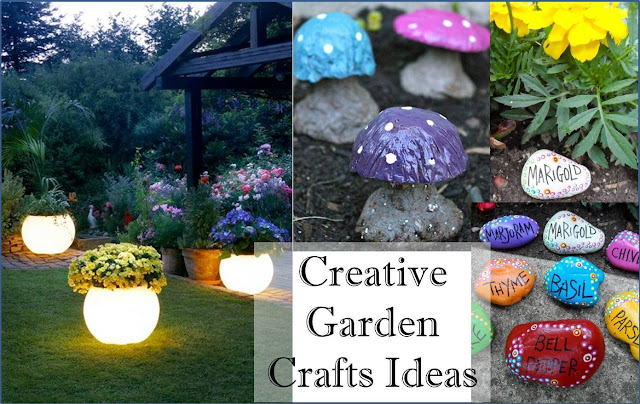 Creative Garden Crafts Ideas