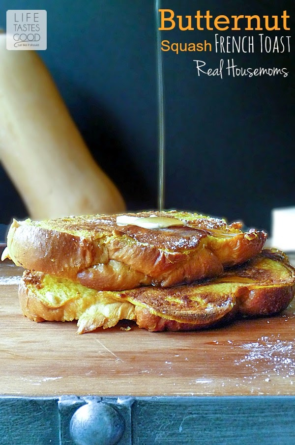 Butternut Squash French Toast | by Life Tastes Good is a delicious and healthier twist on a classic breakfast dish! #Healthy #Breakfast #KidFriendly