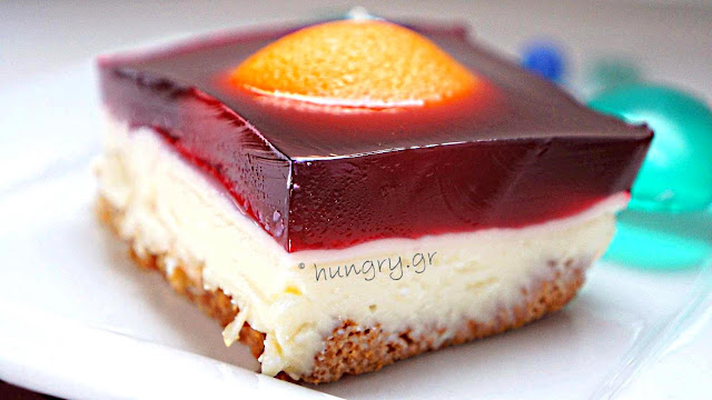 Rusks, Vanilla Pudding & Jelly Dessert