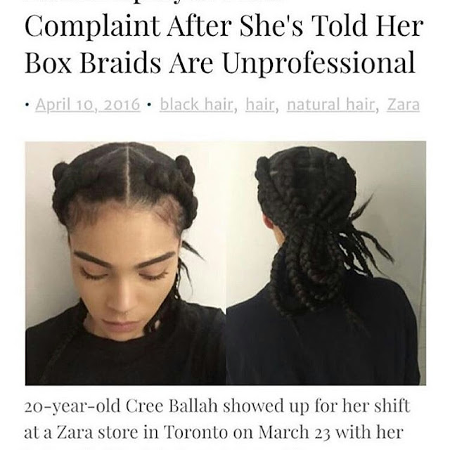 OPINIONS PLEASEEE... What do you guys actually think of this Box Braids? Are her employers right,  or not?